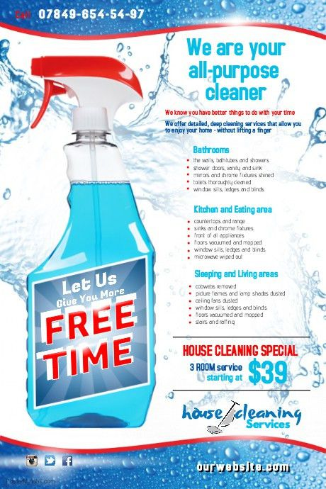 Cleaning Service Flyer template | PosterMyWall