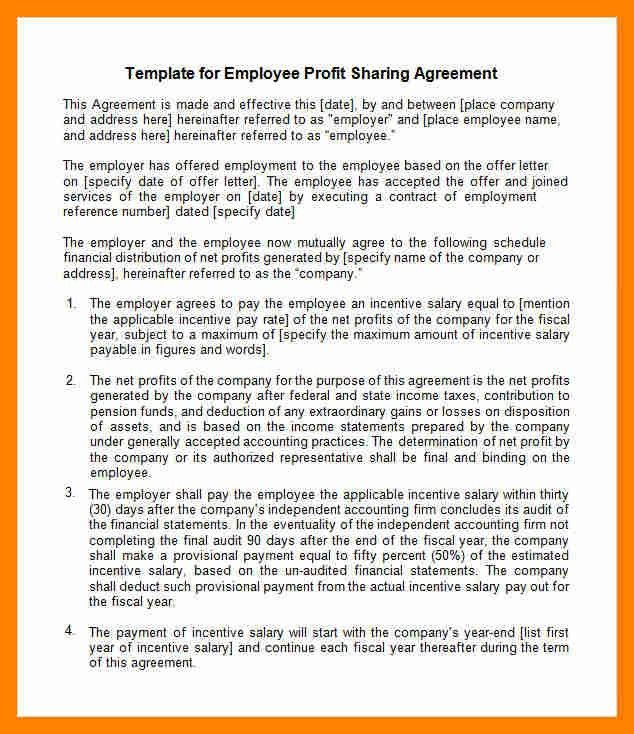Profit Sharing Agreement Template. Sample Commercial Lease ...