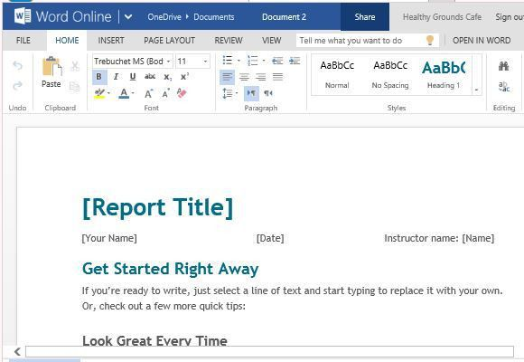 Free Student Report Template For Word Online