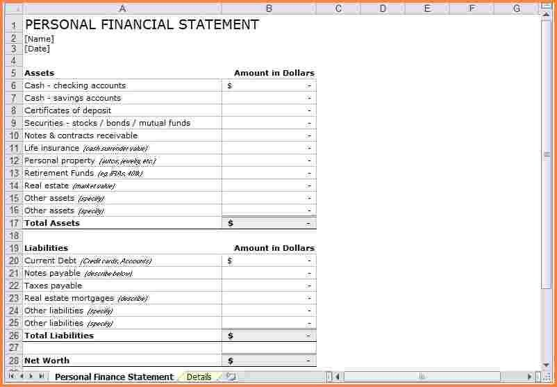 6+ personal income statement template | Registration Statement 2017
