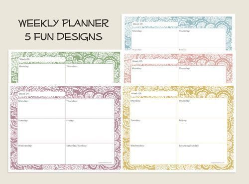 17 best Calendar weekly images on Pinterest | Calendar printable ...