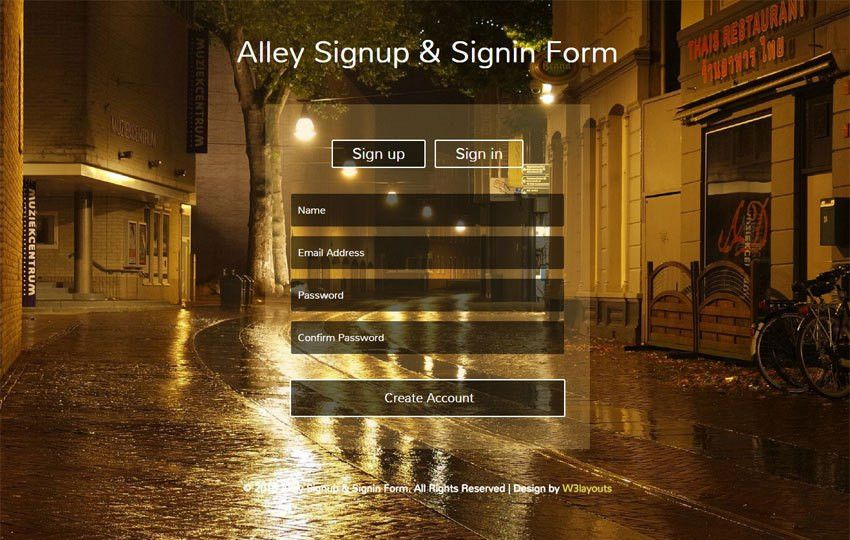 Alley Signup and Signin Form Responsive Widget Template ...