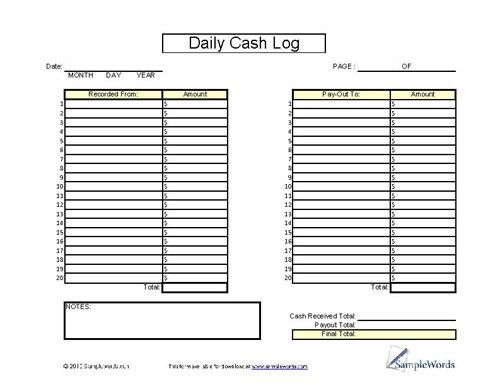 Sample Log Sheet. Time Log Template Sample Download Sample Log ...