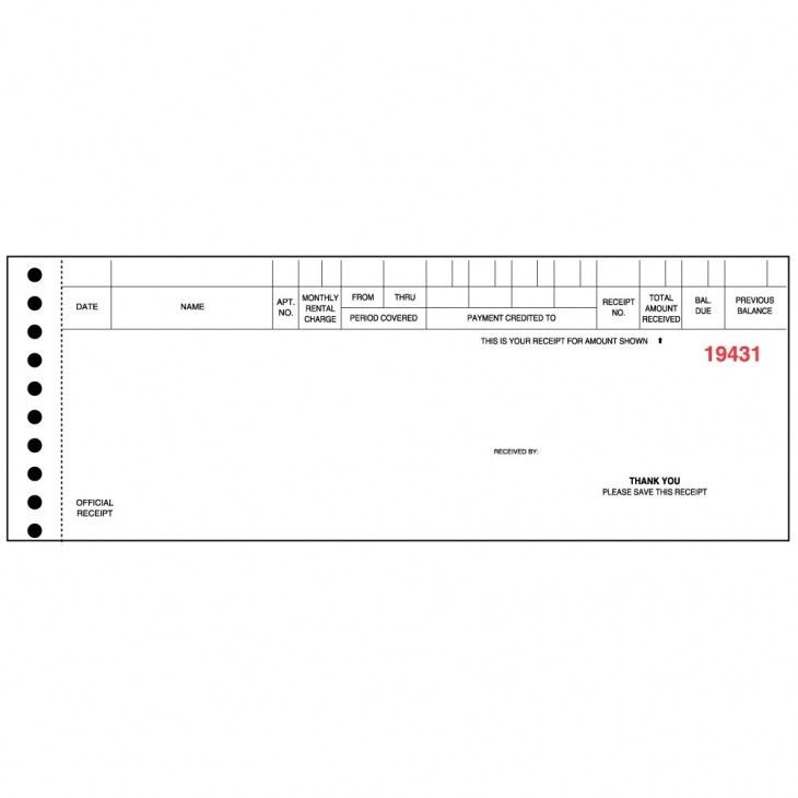 Rent Receipt-custom pegboard style rent receipts never run out of ...