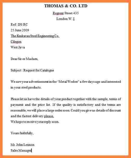 Inquiring Letter Sample Letter Of Inquiry Sales Inquiry Letter – Sales Inquiry Letter