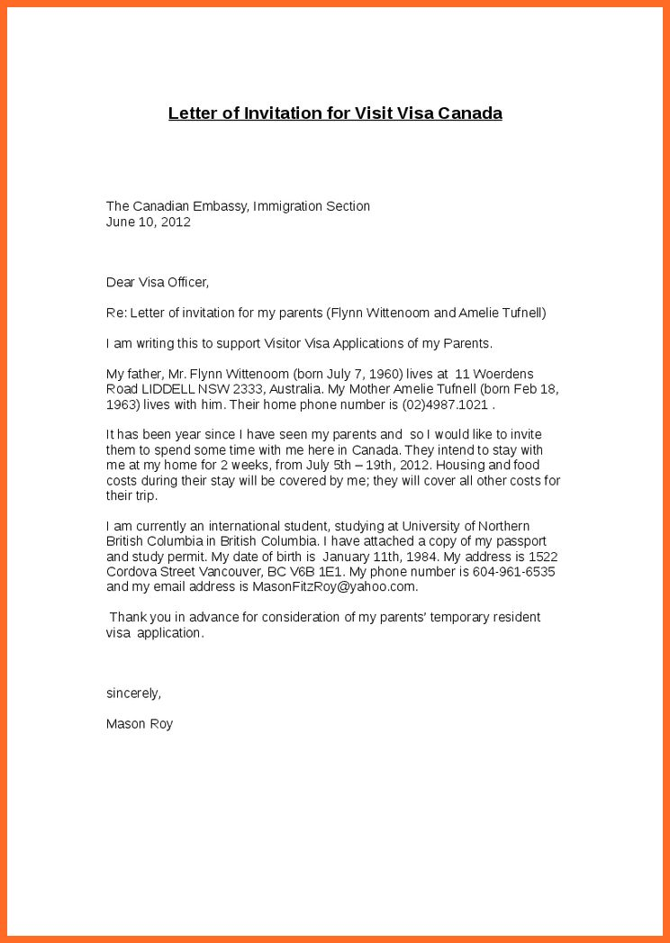 Sample cover letter for visitors visa USA - immihelpcom