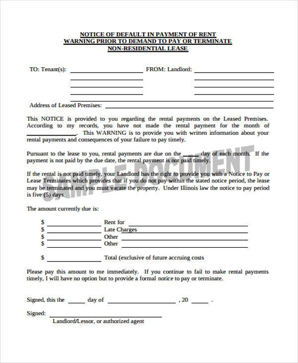 9 Demand Notice Templates - Free Sample, Example Format Download ...