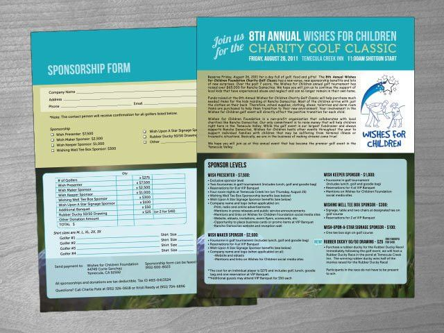 Wishes for Children Charity Golf Classic Sponsorship Flyer ...