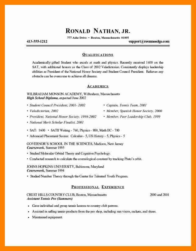 New College Graduate Resume. current college student resume is ...