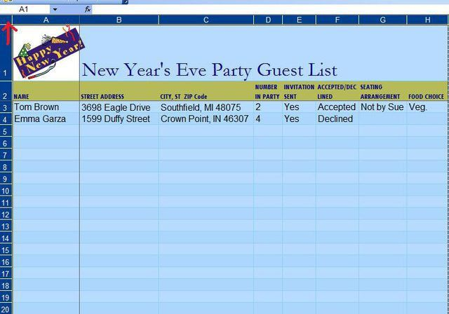 How to Make a Guest List on an Excel Template | Techwalla.com