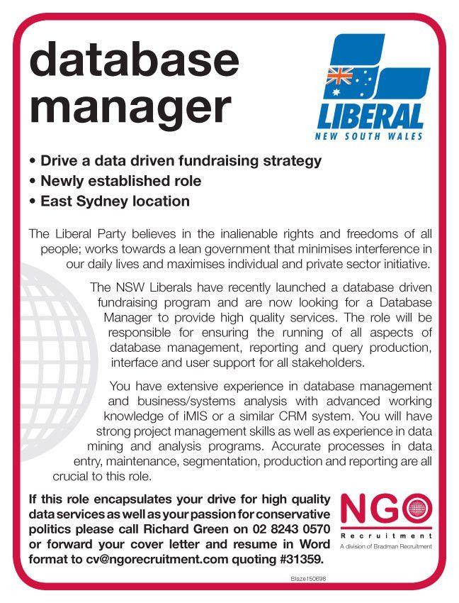 NGO Recruitment Database - NGO Recruitment
