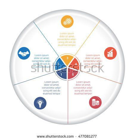 Vector Pie Chart Circle Infographic Template Stock Vector ...