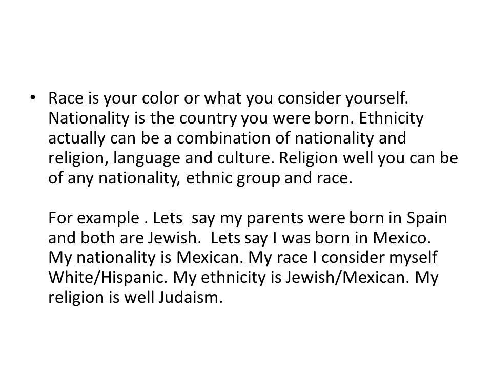 What is the difference between race and ethnicity? - ppt download
