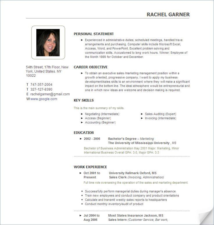 18 best resume images on Pinterest | Resume examples, Resume ...