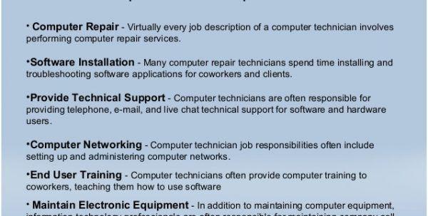 pc maintenance and repair sample resume sample accounting cover ...
