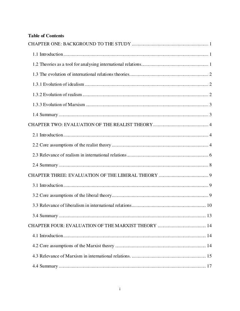 Seminar Paper in International Relations