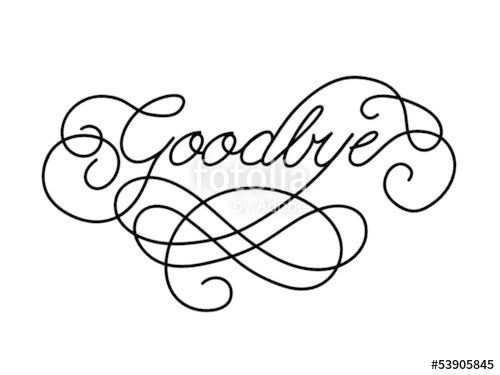 "GOODBYE"" Card (farewell good luck template retirement day)"" Stock ..."