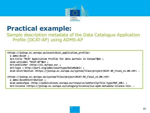 Introduction to the Asset Description Metadata Schema Application Pro…