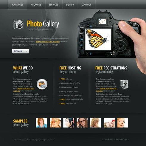 Photo Gallery XHTML Template - 5969 - Art & Photography - Website ...