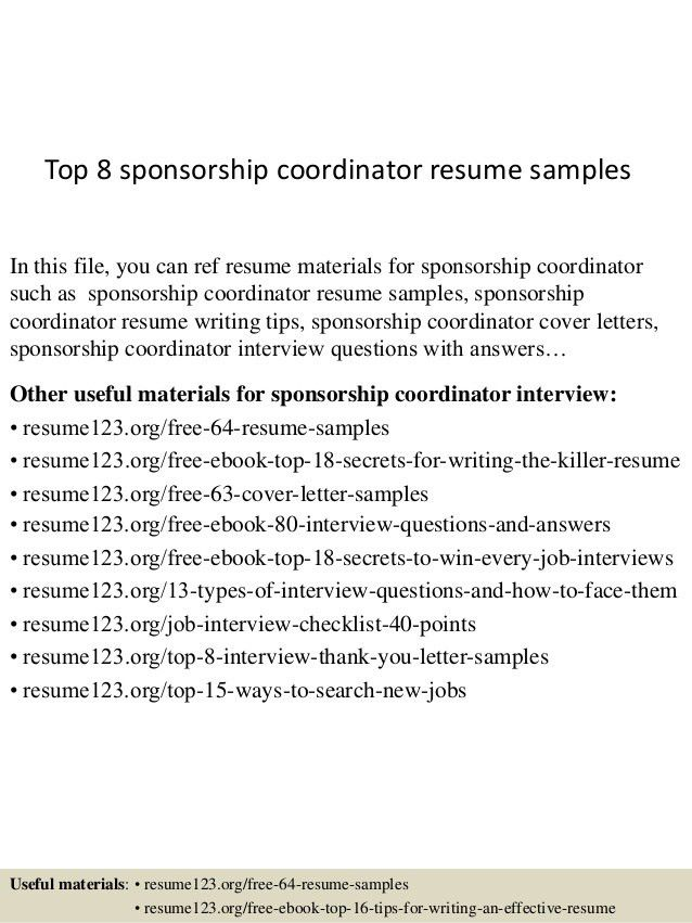 top-8-sponsorship-coordinator-resume-samples-1-638.jpg?cb=1431193607
