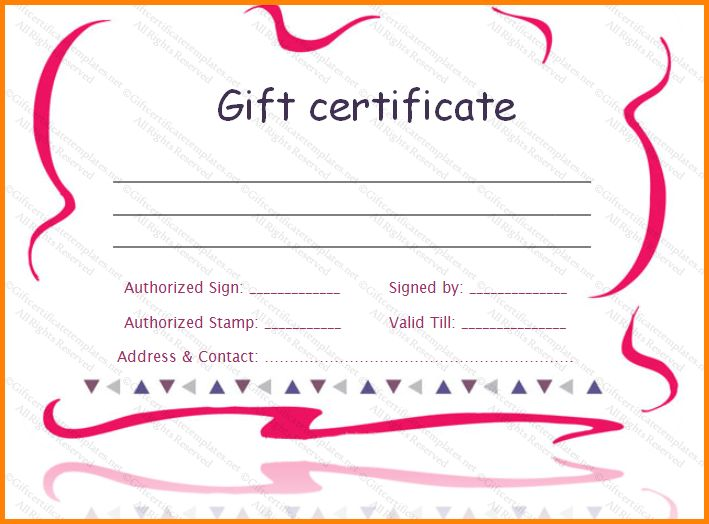 8+ gift certificate template word | memo templates