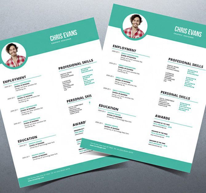 Cute Free Contemporary Resume Templates Sweetlooking - Resume CV ...