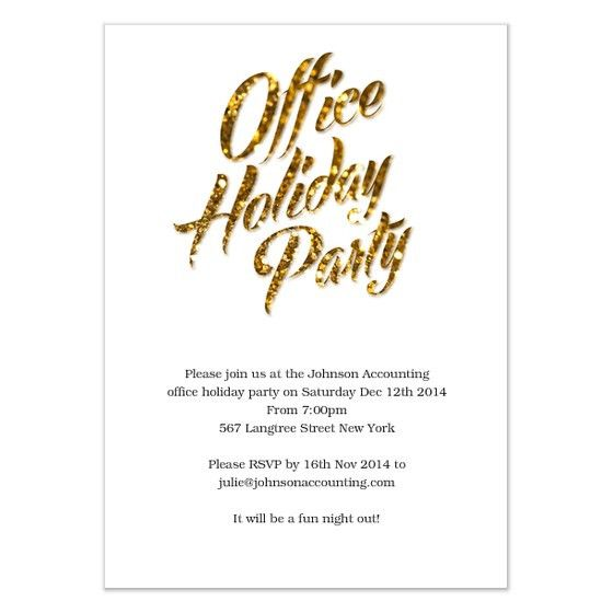 Gold Sparks Office Holiday Party, Invitations & Cards on Pingg.com