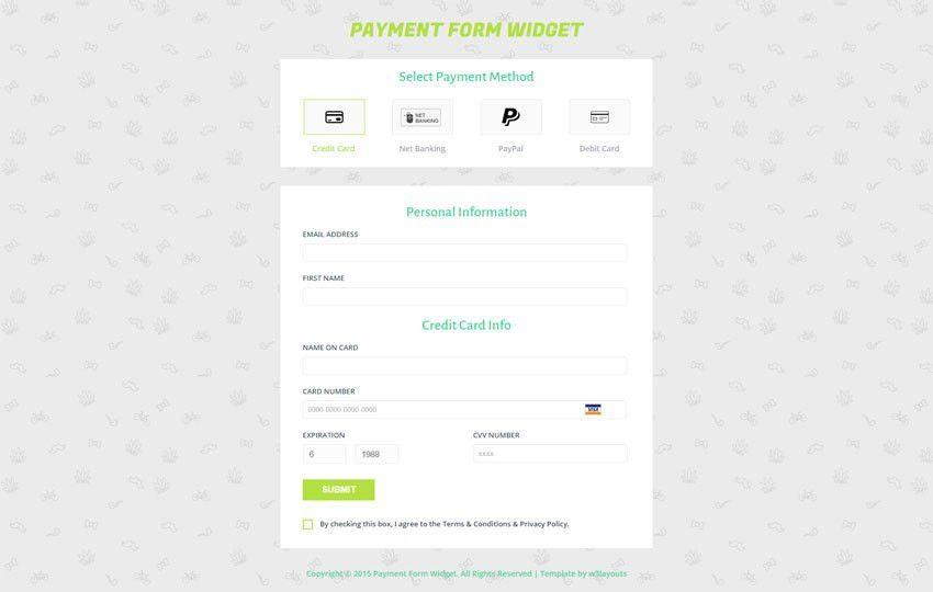 Payment Form Responsive Widget Template - w3layouts.com