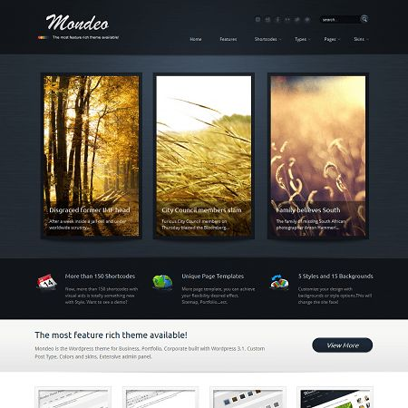 Mondeo WordPress Theme
