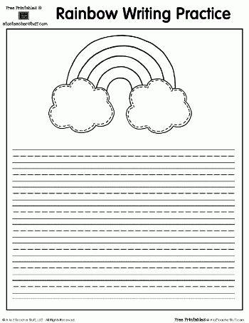 Rainbow Printable Writing Practice Page | A to Z Teacher Stuff ...