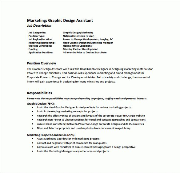 graphic design job description sample graphic design resume sample ...