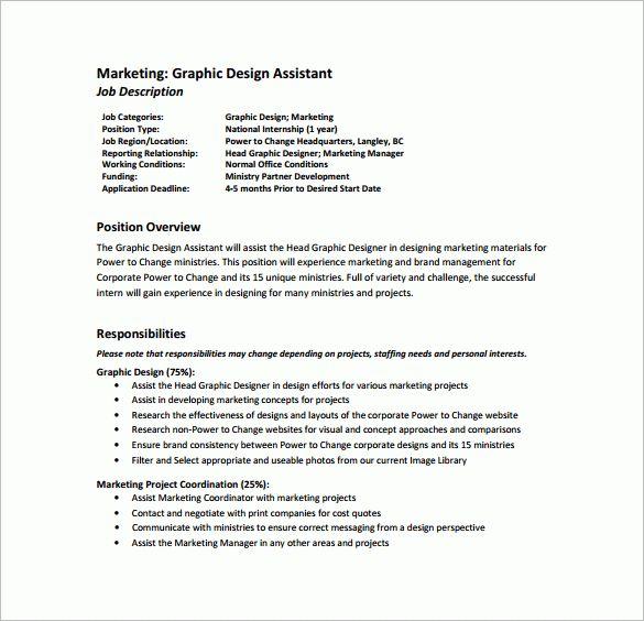 10+ Graphic Designer Job Description Templates – Free Sample ...