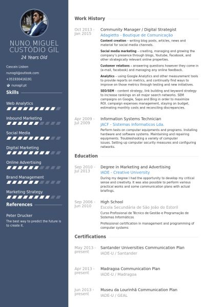 Community Manager Resume samples - VisualCV resume samples database
