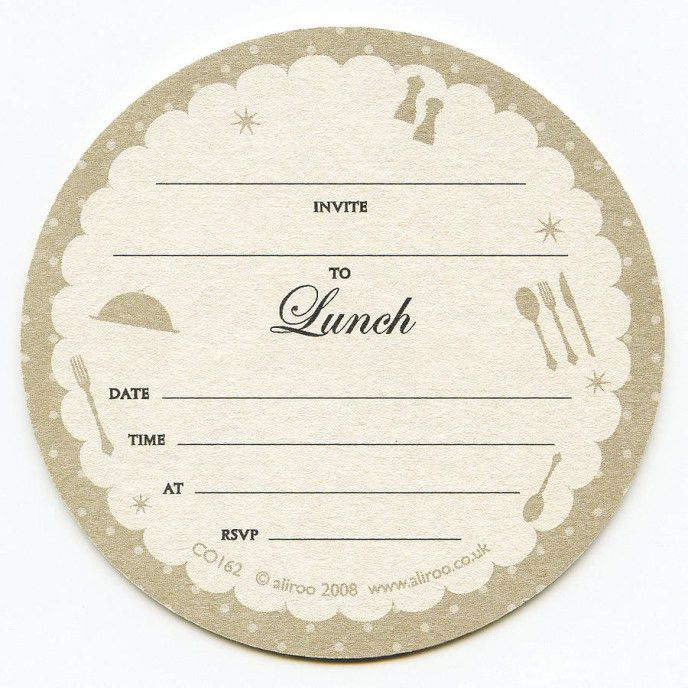 Lunch Invitation Template. Printable Round Shaped Lunch Invitation ...