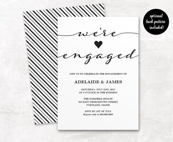 Best 25+ Engagement invitation template ideas on Pinterest ...