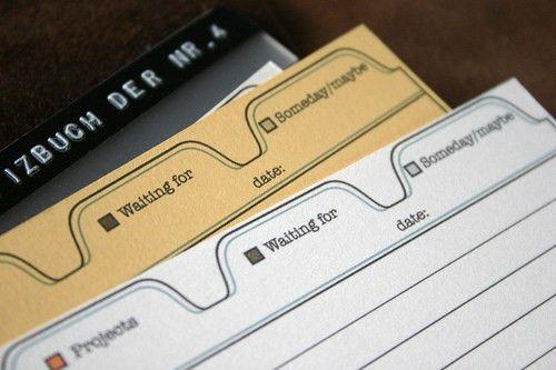 Scription: mind.Depositor Index Card Template