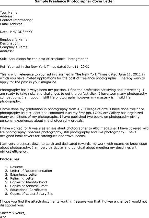 sample cover letter for photography job cover letter sample 2017 ...