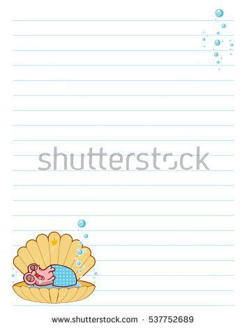 Vector Printing Paper Note Cute Paper Stock Vector 698814766 ...