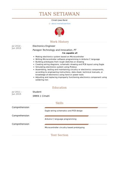 Electronics Engineer Resume samples - VisualCV resume samples database