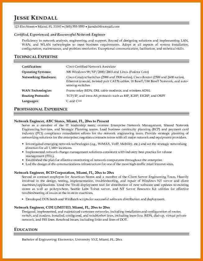 network enginner resume