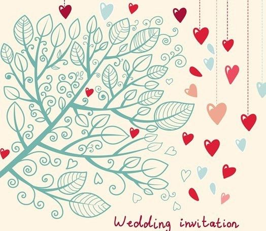 Free Hand Drawn Wedding Invitation Card Design Template 04 - TitanUI