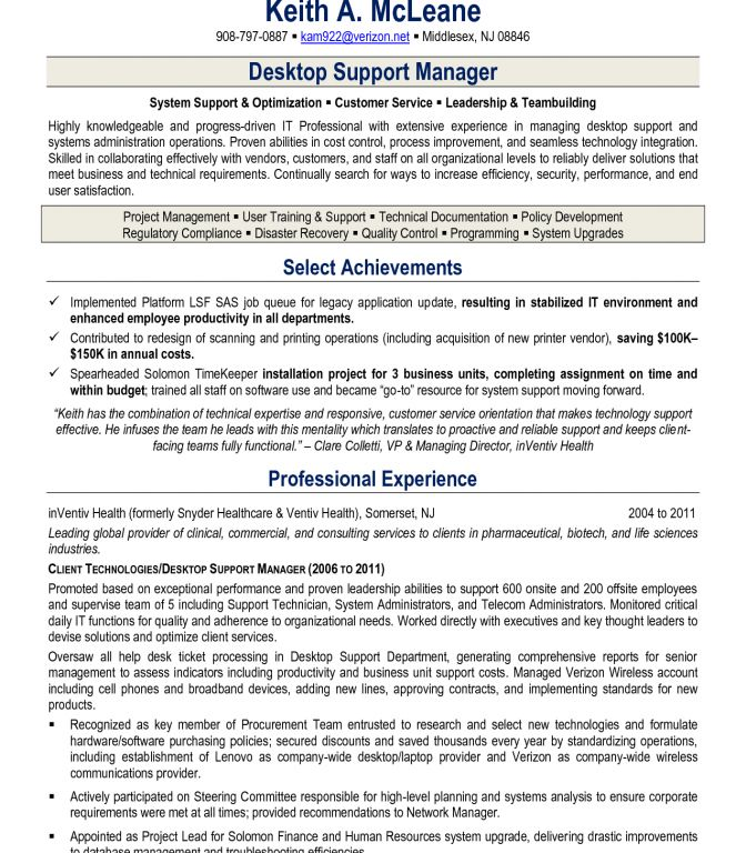 technical support resume sample unforgettable technical support