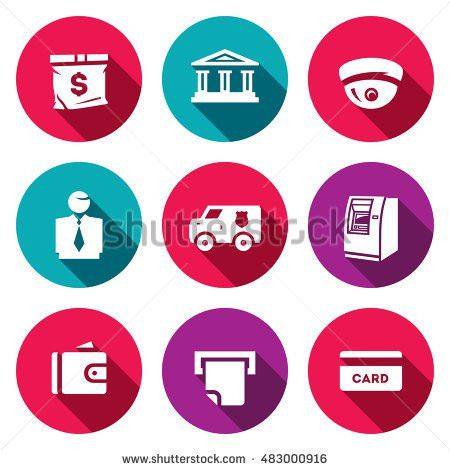 Vector Set Banking Services Icons Money Stock Vector 459568873 ...