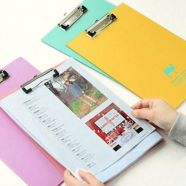 Aliexpress.com : Buy 1PC Colored Writing Paper Clip Board Clip ...