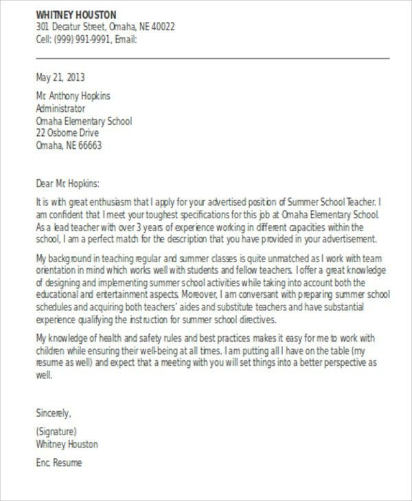 Teacher Aide Cover Letter | Samples.csat.co