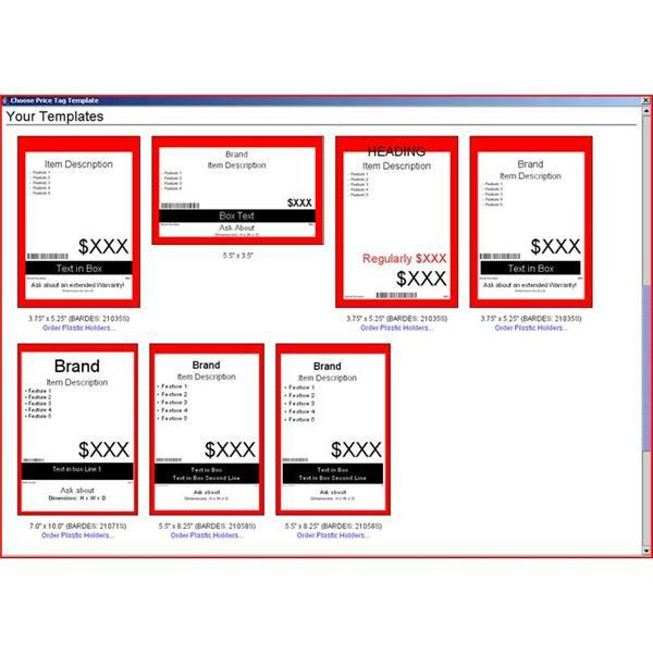 Make Use of These Price Tag Templates to Sell Any Items: Free ...