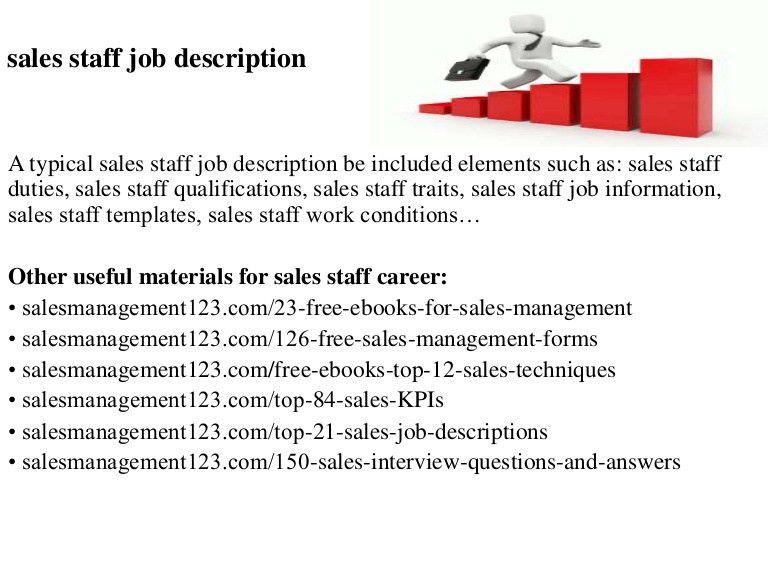 Sales staff job description