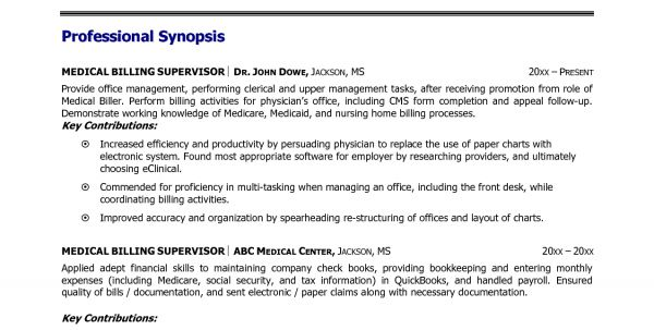 Sample Resume For Medical Billing And Coding With No Experience ...