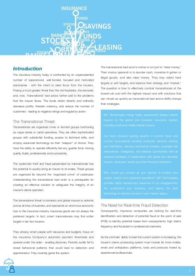Insurance Claims White Paper Template