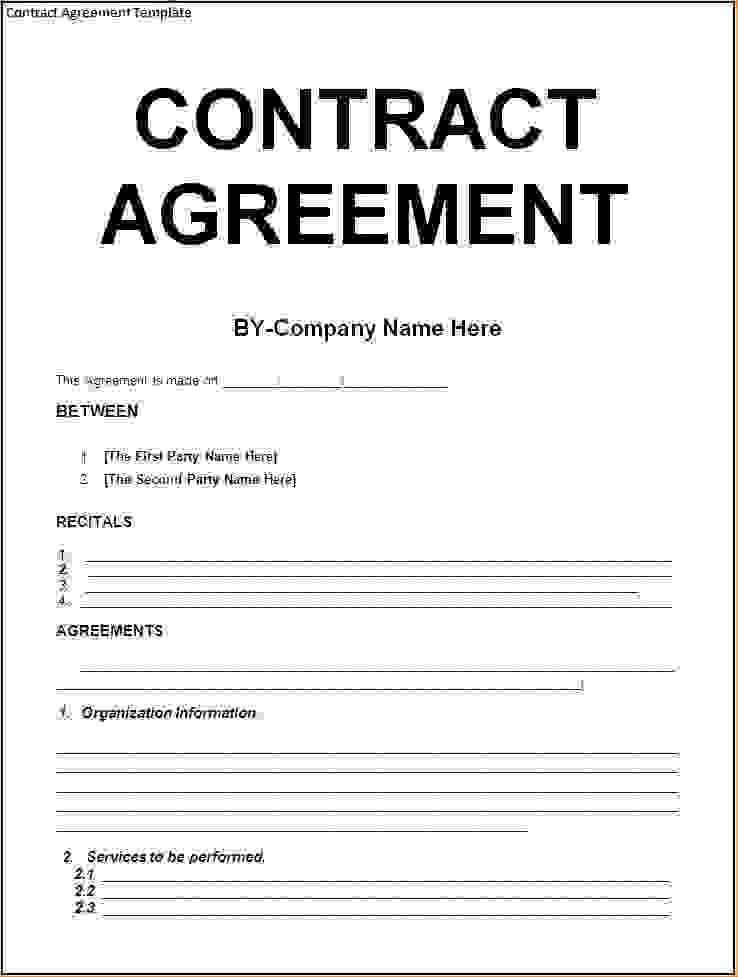 5+ agreement contract templateReport Template Document | report ...
